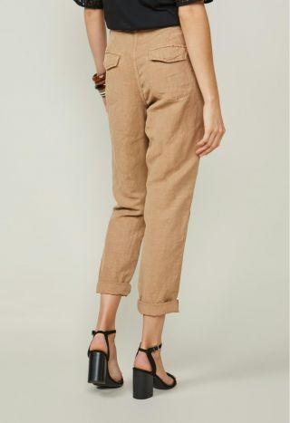 Summum 4s2125-11429 Loose Fit Pants Flowy Linen Te