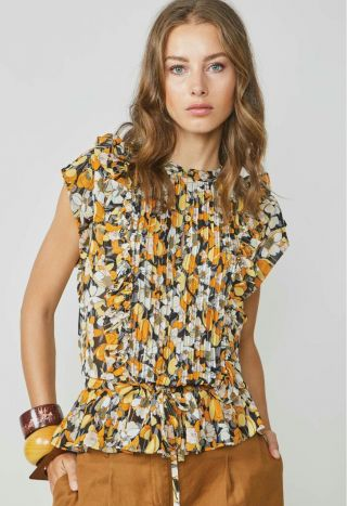 Summum 2s2571-11409 Top Sunny Flower Print