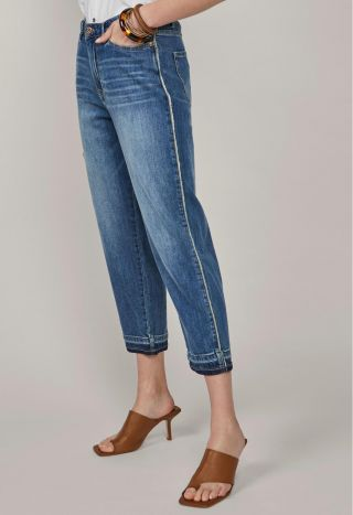 Summum 4s2143-5081 Cropped Straight Jeans Light W