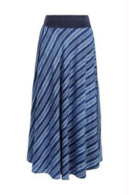 Summum 6s1137-11159 Skirt Indigo Stripe Dobby