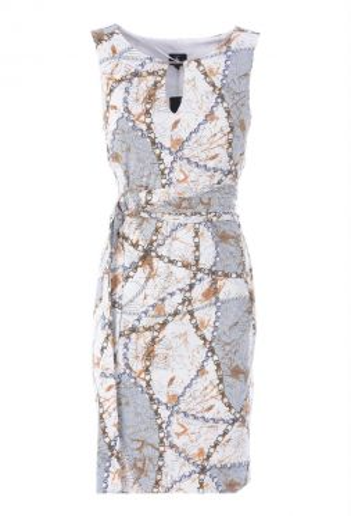 K-Design Q824 Kleedje Mouwloos Kettingprint