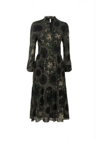 Summum 5s1194-30181 Dress Mesh Paisley Circles