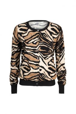 Summum 7s5522-7765 Printed Cardigan Tiger Print