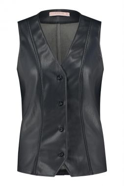 Studio Anneloes Thom Faux Leather Gilet 05183