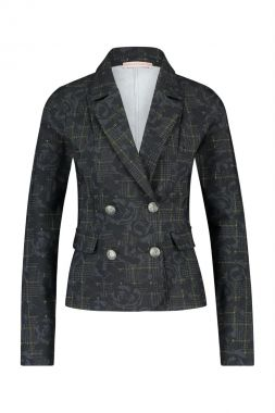 Studio Anneloes Estelle Flower Check Blazer 05066