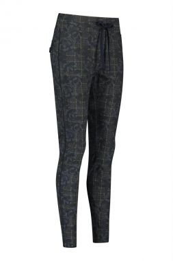 Studio Anneloes Road Flower Check Trousers 05068