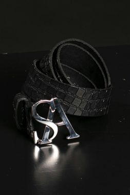 Studio Anneloes SA Silver Kroko Leather Belt 05207