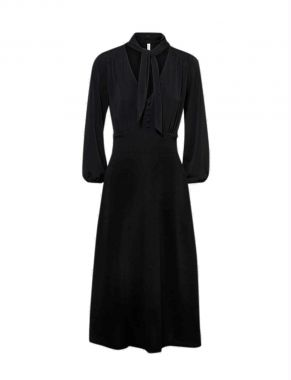 Summum 5s1231-30170 Dress With Scarf Crepe Jersey