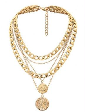 Lizz Jewels Coin Chain S109