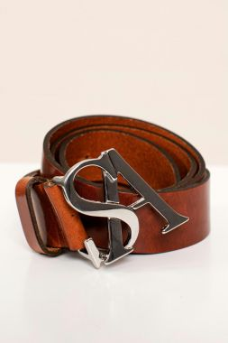 Studio Anneloes SA Silver Buckle Leather Belt 05209
