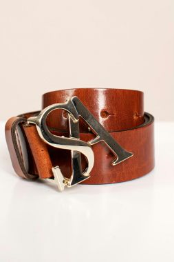 Studio Anneloes SA Gold Buckle Leather Belt 05210