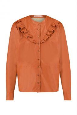 Studio Anneloes Odelia Faux Leather Blouse 05344