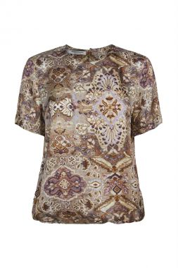 Summum 2s2661-11505 Top Short Sleeves Faded Orname