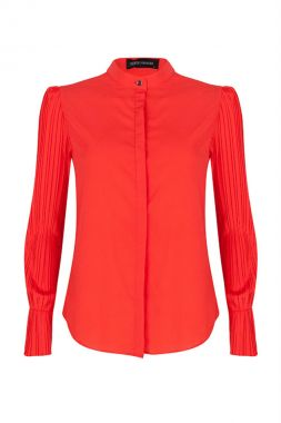 Lofty Manner Calandre-Red Blouse